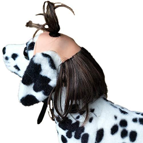 ADIASEN DIY Charm Steil Haar Huisdieren Kostuums Pruiken, Grappige Katten Honden Pruiken Haaraccessoires Hoofd Ornamenten voor Puppy Kitten Andere Huisdieren Halloween Kerst Festival Canvial Party, Zwart