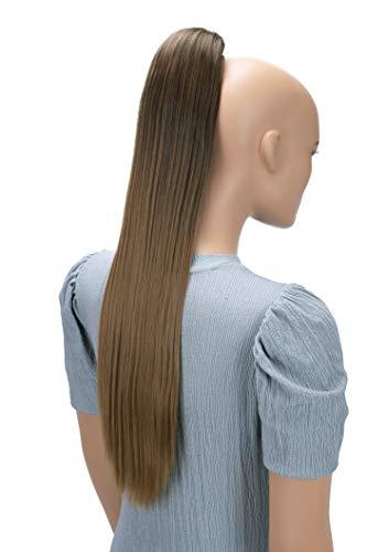 PRETTYSHOP 55cm Haarteil Zopf Pferdeschwanz Haarverlängerung Glatt Hellbraun Mix PH525