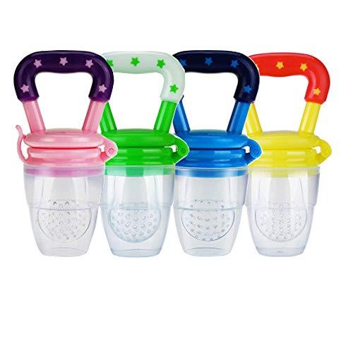 4 piezas Alimentador de alimentos para bebés, Comedero de frutas juguetes de dentición para Bebés Mesh Feeder Teethers Dentición juguete dentición de frutas para bebé Chupete bebés Niños Regalo