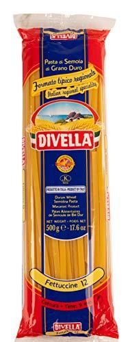 10x Pasta Divella 100% Italienisch N°12 Fettuccine 500g