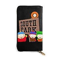 South Park レザーラウンドファスナー長財布メンズ 牛革大容量収纳 整理 財布 小钱包 本革さいふ 紳士 Long Wall