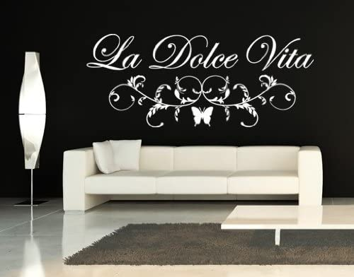La Dolce Vita 現金特価 Floral 激安通販販売 Quote Wall Style Decal St Apply by -