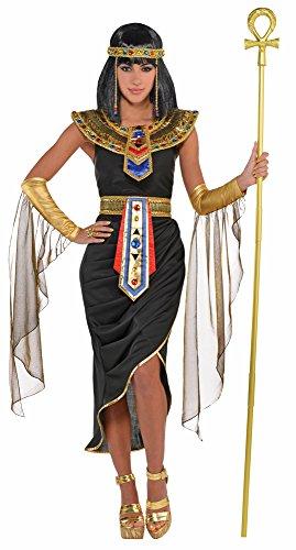 Das Kostümland Ägyptische Königin Cleopatra Kostüm - Schwarz Gold - Gr. S