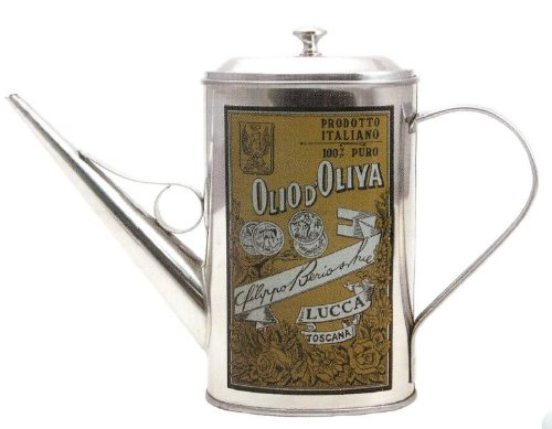 Kitchen Supply Olive Oil Dispenser, Stainless Steel