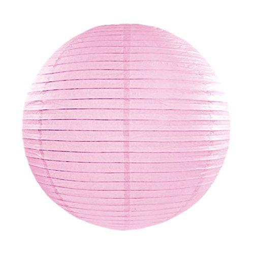 Simplydeko Lampion | Papierlaterne | Papier-Laterne | Papierlampion für Party, Garten & Hochzeit | Rosa Rose | 20 cm