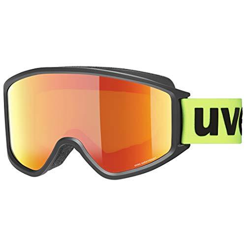Uvex Unisex-Erwachsene g.gl 3000 CV Skibrille, Black mat-Green/orange-Green, Einheitsgröße
