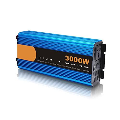 Wanjun Inverter di Potenza con Prese Ca E Porta di Ricarica USB per Laptop, Tablet, Smartphone, Fotocamera,3000W