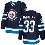 WANGT Jerséis de hockey sobre hielo, camisetas bordadas de hockey ropa de entrenamiento #26#33 BYFUGLIEN#29 LAINE#55 SCHEIFELE#37 HELLEBUYCK,33,XL