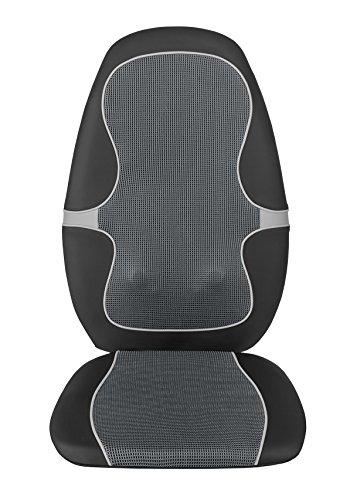 Medisana MC 815 Massaggio Shiatsu Pad, Seduta Massaggiante con Massaggio a Vibrazione, 4 Teste Massaggianti Rotanti, 3 Livelli di Intensità, con Telecomando per Tutta la Schiena