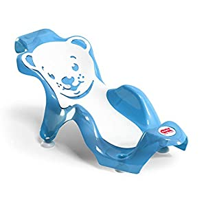 OKBABY Buddy - Hamaca de Baño Ergonómica con Asiento de Goma Antideslizante para el Baño del Bebé - para Bebés de 0 a 8 Meses (8 Kg), Azul