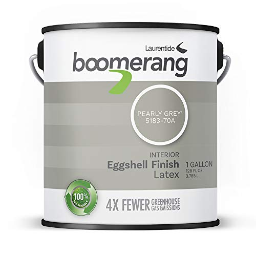 Boomerang Eco-Friendly Interior Paint, Eggshell Finish (Pearly Grey)