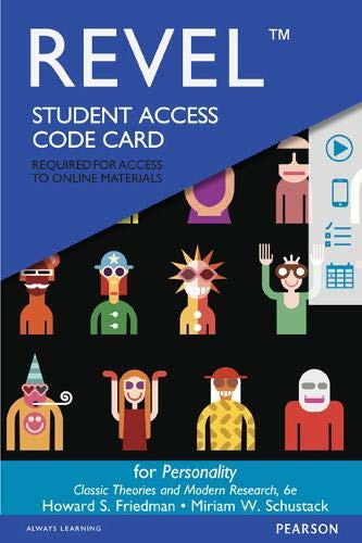 Revel for Personality: Classic Theories and Modern Research -- Access Card