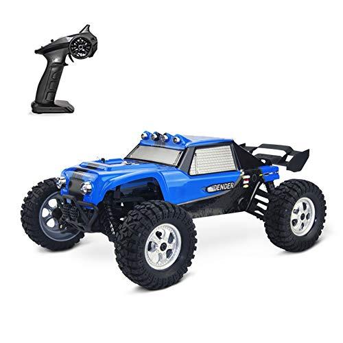 XIHAI 4WD Coche Teledirigido Engranaje Dirección Alta Velocidad Super Grande 37cm RC Offroad Buggy Amortiguador Hidraulico Coche RC Anti-CaíDa Anticolisión Coches Juguete Niños Adultos,Azul