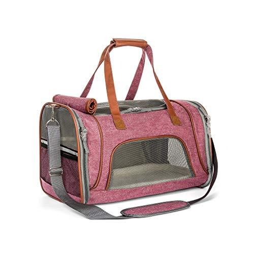 JXLBB Chat Rose Fournitures Sac à Main pour Animaux de Compagnie Messenger Bag Out Portable Transparent Sac à bandoulière Teddy Dog Bag