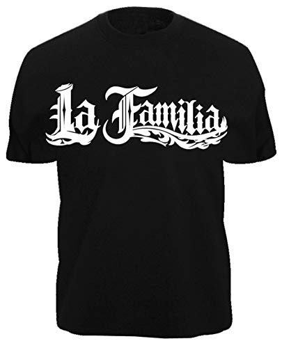 Camiseta La Familia – LA VIDA LOCA – Black Pearl Auto Moto MI Decal Shirt xx Negro M