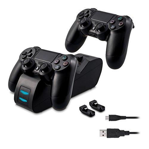 kwmobile Station de charge PS4 - Dock de chargement double support compatible avec manette DualShock PlayStation 4/Slim/Pro