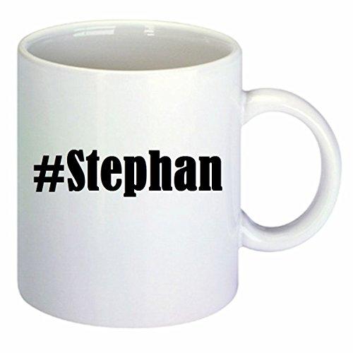 Kaffeetasse #Stephan Hashtag Raute Keramik Höhe 9,5cm ? 8cm in Weiß