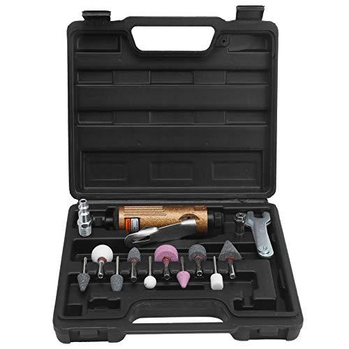 Juego de amoladora neumática, máquina lijadora neumática de metal con caja de plástico, amoladora de pulido, herramienta de aire, molino(US)