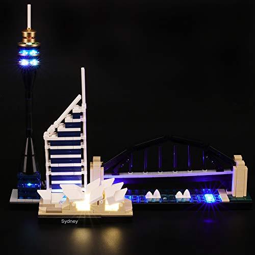 BRIKSMAX Led Beleuchtungsset für Architecture Sydney Skyline Baustein Set, Kompatibel Mit Lego 21032 Bausteinen Modell - Ohne Lego Set