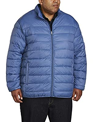 Amazon Essentials Men's Big & Tall Lightweight Water-Resistant Packable Puffer Jacket, Blue, 4X