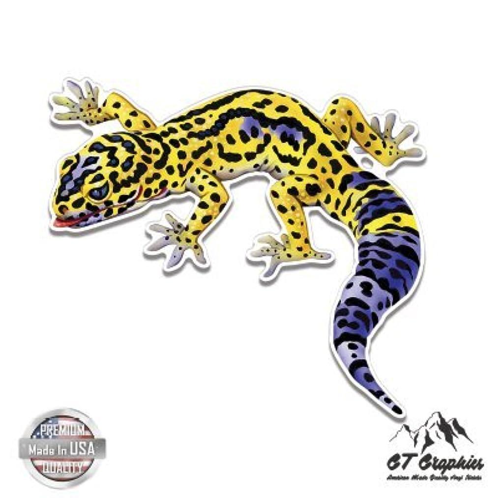 Leopard Gecko Colorful - Vinyl Sticker Waterproof Decal