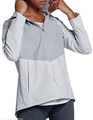Nike Damen W NK AeroShield Zonal JKT HD Regenjacke, Reines Platin/Wolf Grau/Metallisches Silber, M