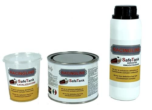 SAFETANK - Kit completo para tratamiento de la higiene de la reparación de depósitos de motocicletas y coches