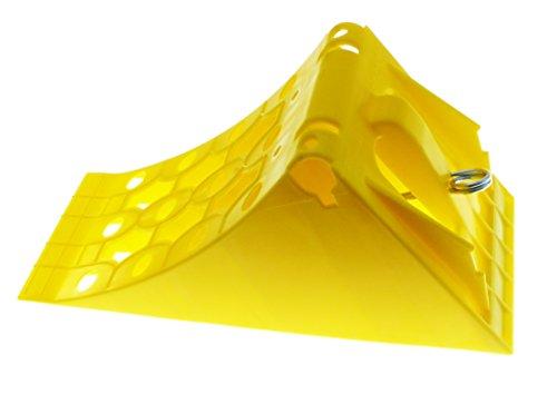 Fahrzeugbedarf Wilms Hemmschuh/Unterlegkeil aus Kunststoff, gelb, 160 MM breit bis 5000kg, nach DIN 76051, NG46