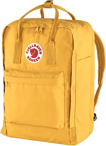Fjallraven Unisex's Kånken Laptop 17' Backpack, Yellow, OneSize