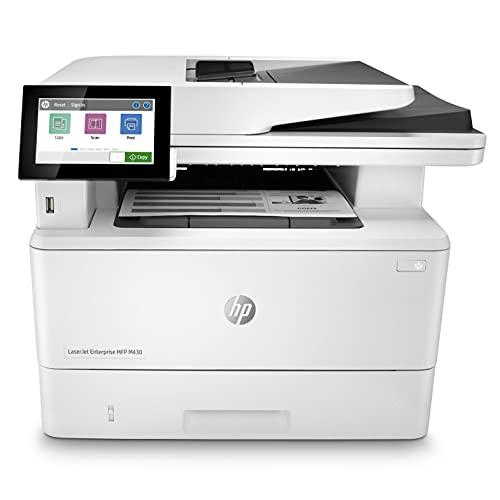 HP LaserJet Enterprise M430f Multifunktions-Laserdrucker (Drucker, Scanner, Kopierer, Fax, LAN, Duplex, 350-Blatt Papierfach) weiß
