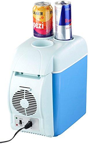Lescars Auto Kühlschrank: Thermoelektrische Kfz-Wärme- & Kühl-Box, Getränkehalter, 7,5 l, 12 V (Thermobox)