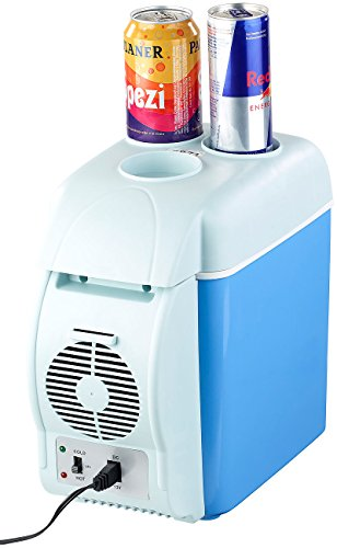 Lescars Kühlschrank Auto: Thermoelektrische Kfz-Wärme- & Kühl-Box, Getränkehalter, 7,5 l, 12 V (12V Kühlbox)