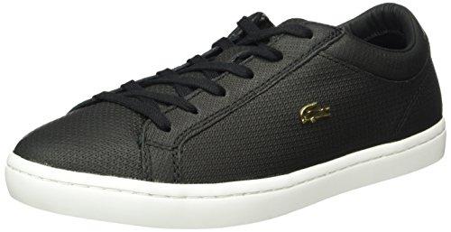 Lacoste Damen Straightset 316 3 Sneaker, Schwarz (BLK 024), 42 EU