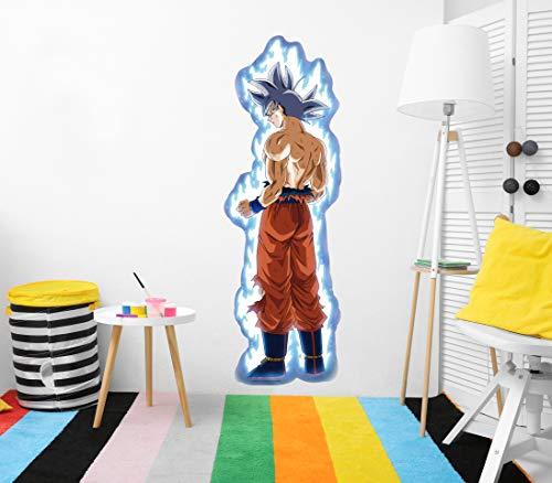 Vinilo de Pared Tamaño Real Dragon Ball Super Goku Ultra Instinto Producto Oficial  ...