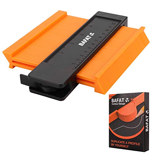 BAFAT Contour Gauge Profile Tool with Adjustable Lock, Irregular Welding Woodworking Tracing, Precisely Copy Irregular Shape Instant Template, Must Have Tool for DIY Handyman, Construction (5 Inch)