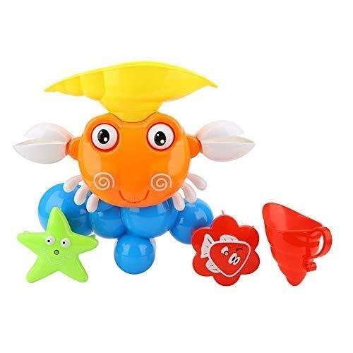 Babykrab Bath Toy Set, Water Padding Toy Plastic Water Spuitbus Badkuip Spelen speelgoed for kinderen waggelt (Kleur: Rood) (Color : Red)