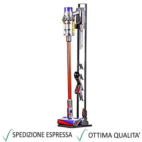 Staffa Supporto per Accessori ed Aspirapolvere DYSON V6 V7 V8 V10 V11 DC30 DC31 DC34 DC35 DC58 DC59 DC62 DC74 - Garanzia 24 Mesi Figevida - Colore: NE