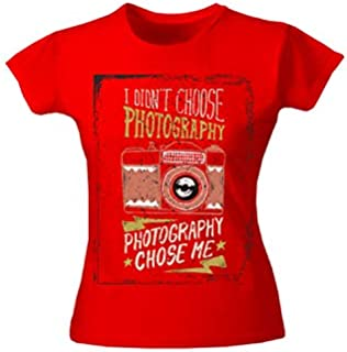 Moneysavers Premium T-Shirt for Woman I Do't Choose Photography Choose me T-Shirts-Small-Red
