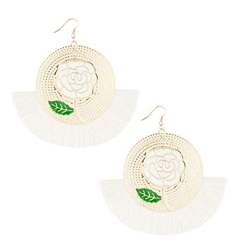 3 Pairs Stylish Earrings For Women Bohemian Ethnic Style Creative Golden Silk Tassel Metal Earrings Ladies Jewelry 2021 New