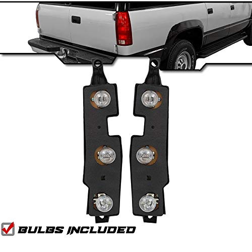 Epic Lighting OE Replacement Tail Lights Taillamps Connector Plate Compatible with 1988-2000 C/K Pickup Suburban Tahoe Yukon Blazer Chevy GMC [ 16511565 16511566 ] Pair