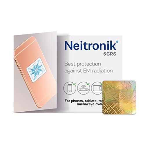 NEITRONIK Antenna Adesivo Protezione da Radiazione Elettrosmog Cellulari Smatrphone Tablet Monitor PC WiFi Schermatura Inquinamento Elettromagnetico KIT 5GRS 3 pz