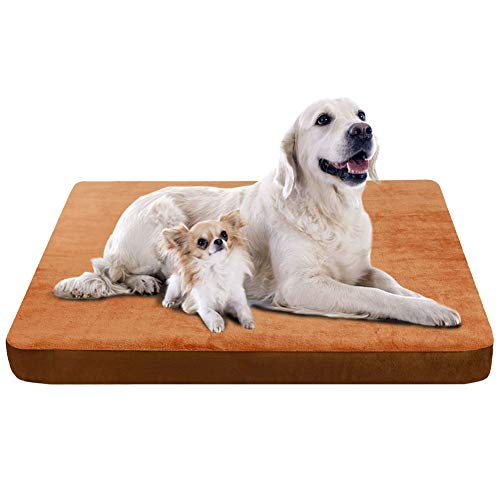 "JoicyCo Large Dog Bed Pet Beds Dog Mats Crate Mat Dog Beds for Large Dogs Foam Cushion Anti-Slip with Washable Cover 47.24"" Beds"