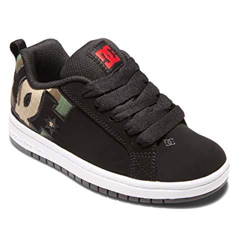 DC Shoes Court Graffik-für Jungen, Zapatillas, Negro, 38 EU
