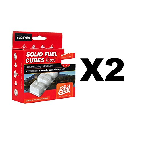 Esbit Solid Fuel Replacement Cubes Emergency Fire Starter Camping (2-Pack of 12)