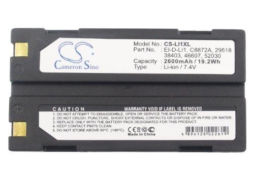 Akku für Trimble GPS 5800 7,4V 2600mAh//19Wh Li-Ion Anthrazit