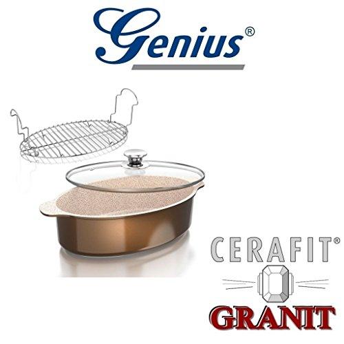 Genius Auswahl Granit Serie Crepes-Pfanne, Bratpfanne, Wok-Pfanne, Grillpfanne, Bräter, Töpfe (Bräter 3 teilg)