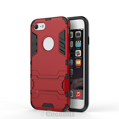 Cocomii Iron Man Armor iPhone SE 2020/iPhone 8/iPhone 7 Custodia, Sottile Opaco Kickstand Rinforzata Case Bumper Cover Paraurti Compatible with Apple iPhone SE 2020/iP8/iP7 (Red)