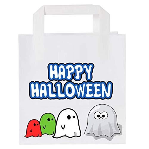Bolsas de papel para fiesta de Halloween (10 unidades), diseo de fantasmas