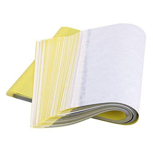 PIXNOR Papier de Transfert de Tatouage Pochoir A4 50pcs