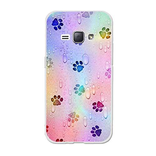 Gift_Source Galaxy Amp 2 Custodia, Galaxy J1 2016 Custodia, [Modèle 09] Custodia Morbida Silicone Gomma TPU Sottile Flessibile Case Cover per Samsung Galaxy J1 2016/Amp 2/Express 3 4.5'